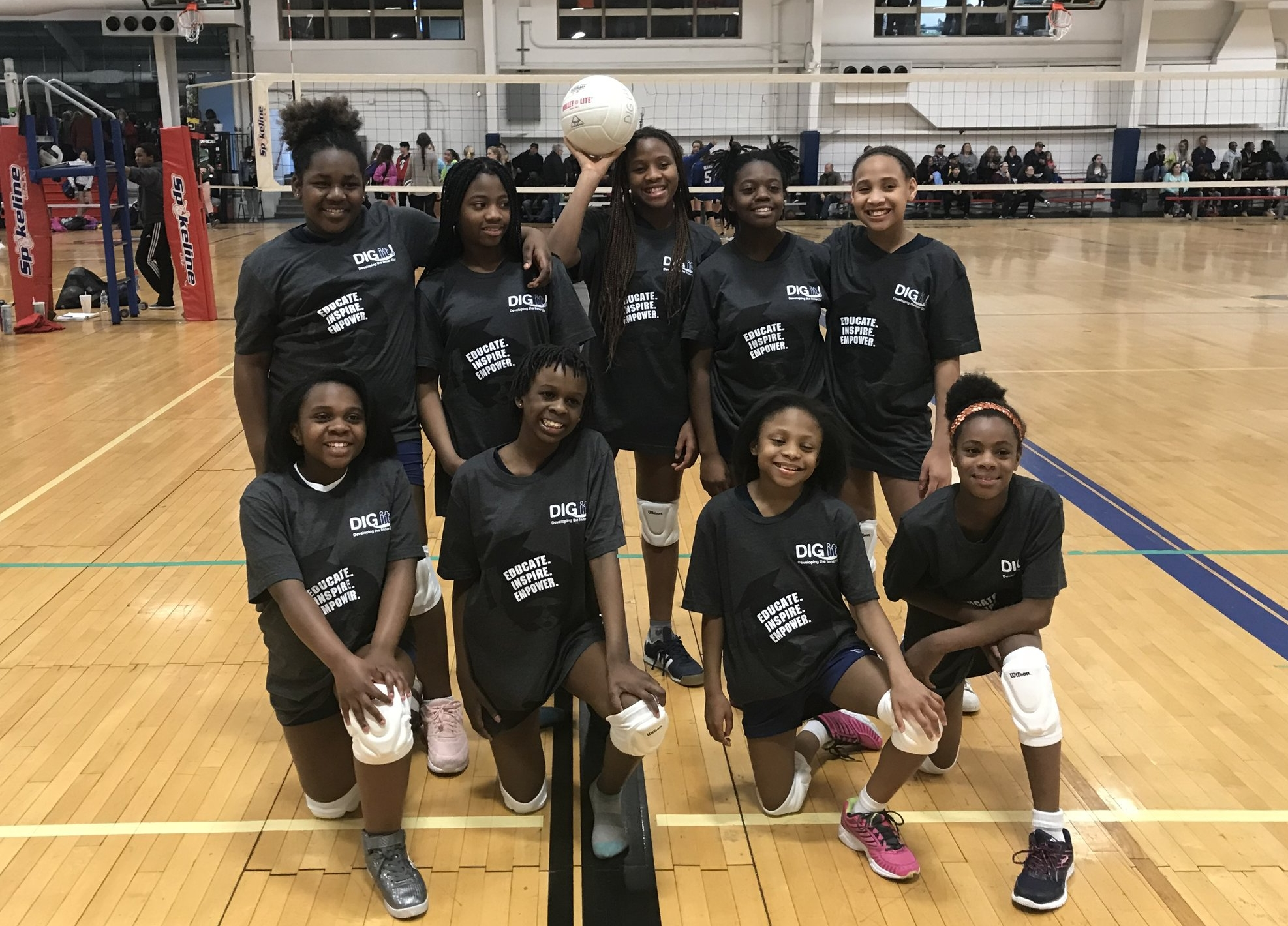 Lee Hamilton BGCSTL DIG it! Team  - Lee Hamilton's Boys & Girls Club DIG it! Volleyball Team is located in North County of St. Louis, MO. The team consists of 4th-5th grade girls who have been members of the DIG it! Program for the last 3 years!