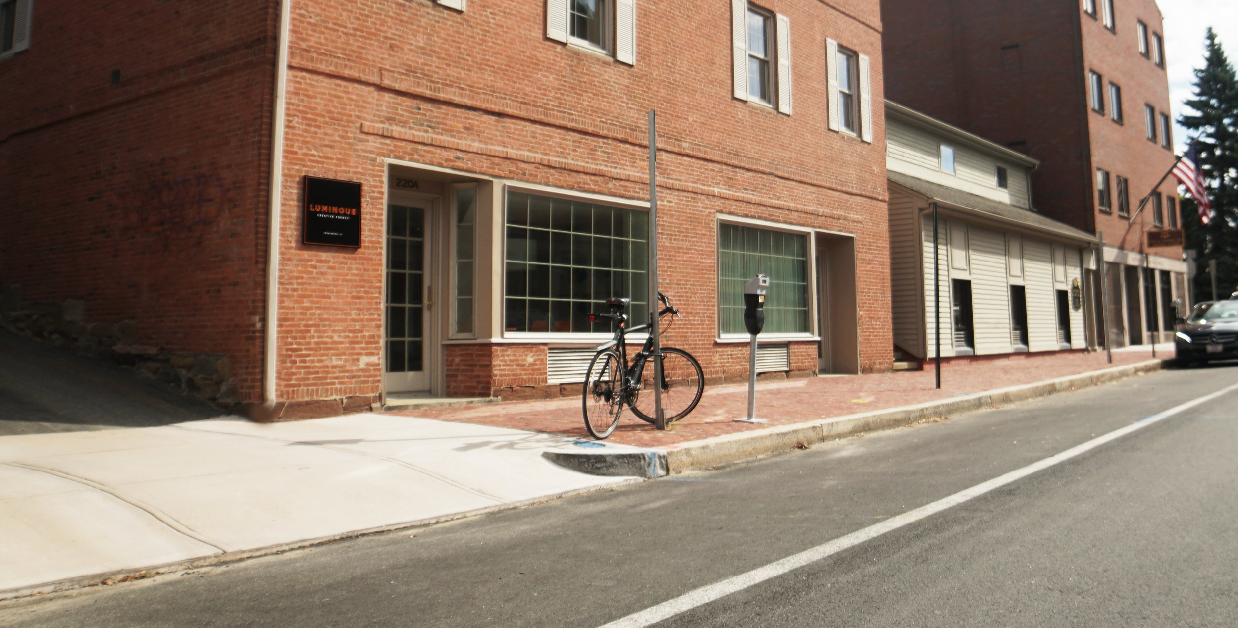 Our Space - We're located at 220 South Main Street in Providence, RI nestled next to an art house theater with the creativity of RISD surrounding us.