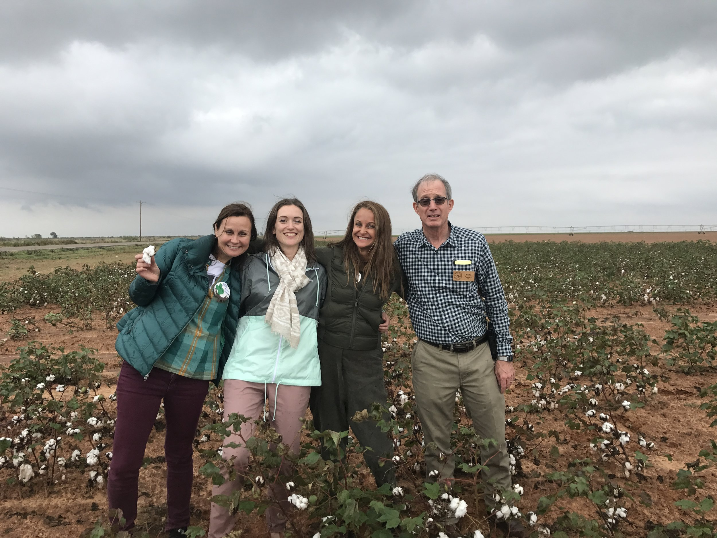 Marci with members of the Texas Organic Cotton Marketing Coop