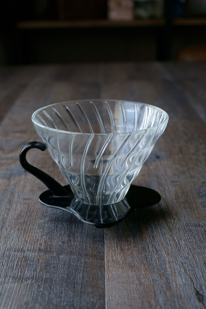 Hario Glass V60 pour over dripper