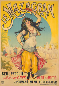 le mazagran vintage cold brew coffee poster algiers