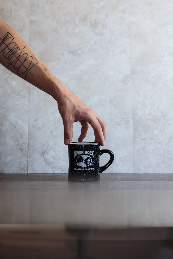 Pre-warm a coffee mug