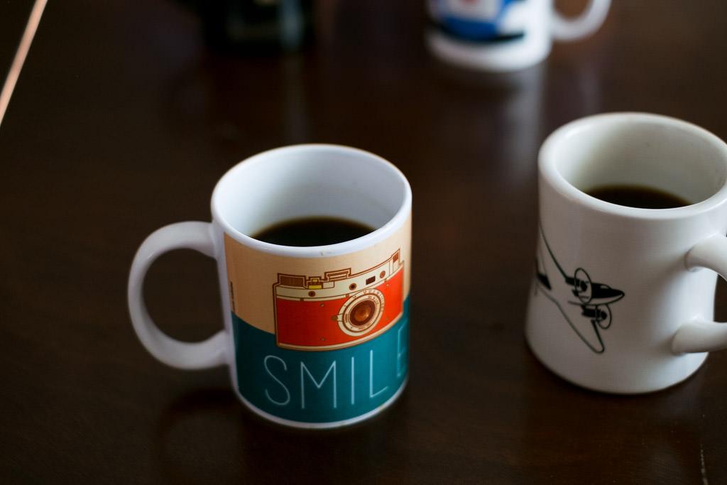 Coffee mugs on the table