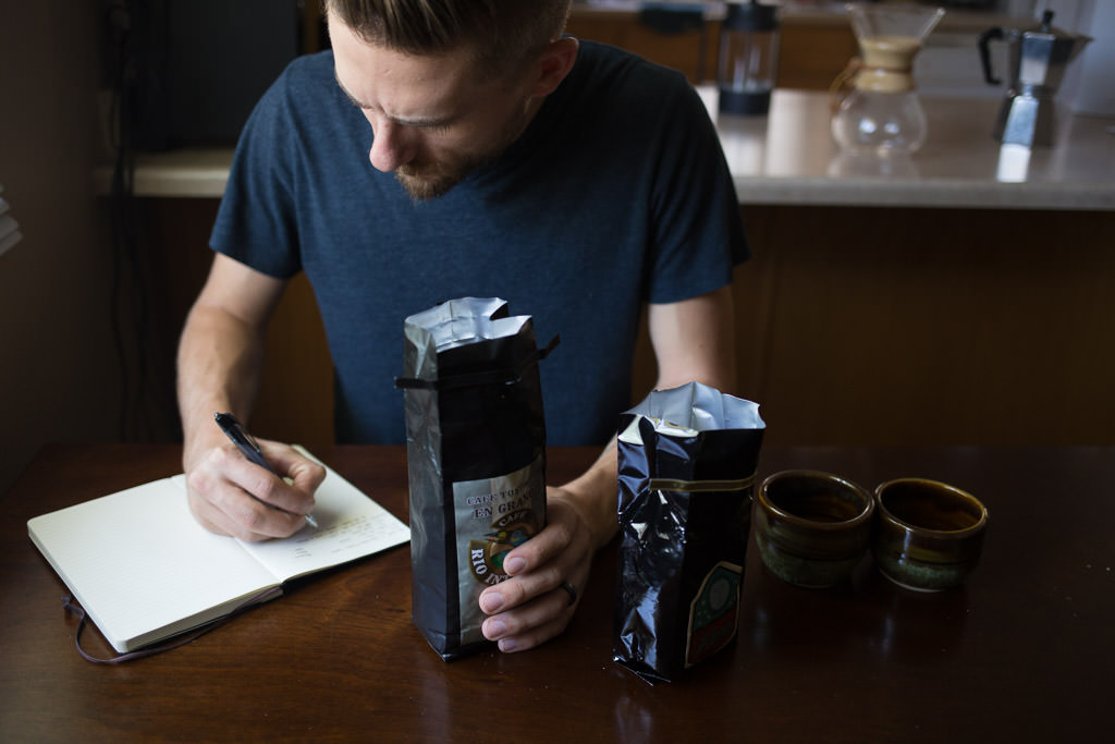 Take notes to help adjust your coffee at home
