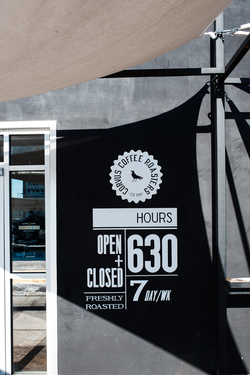 Specialty Coffee shop hours signage