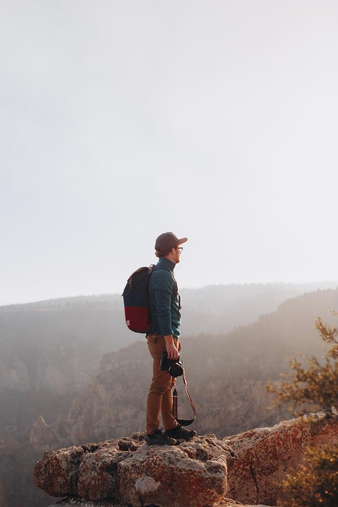 Adventure portrait at Grand Canyon National Park