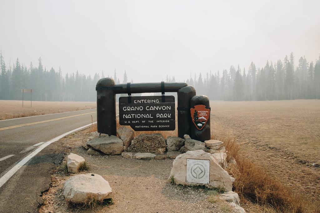 Grand Canyon National Park entrance sign