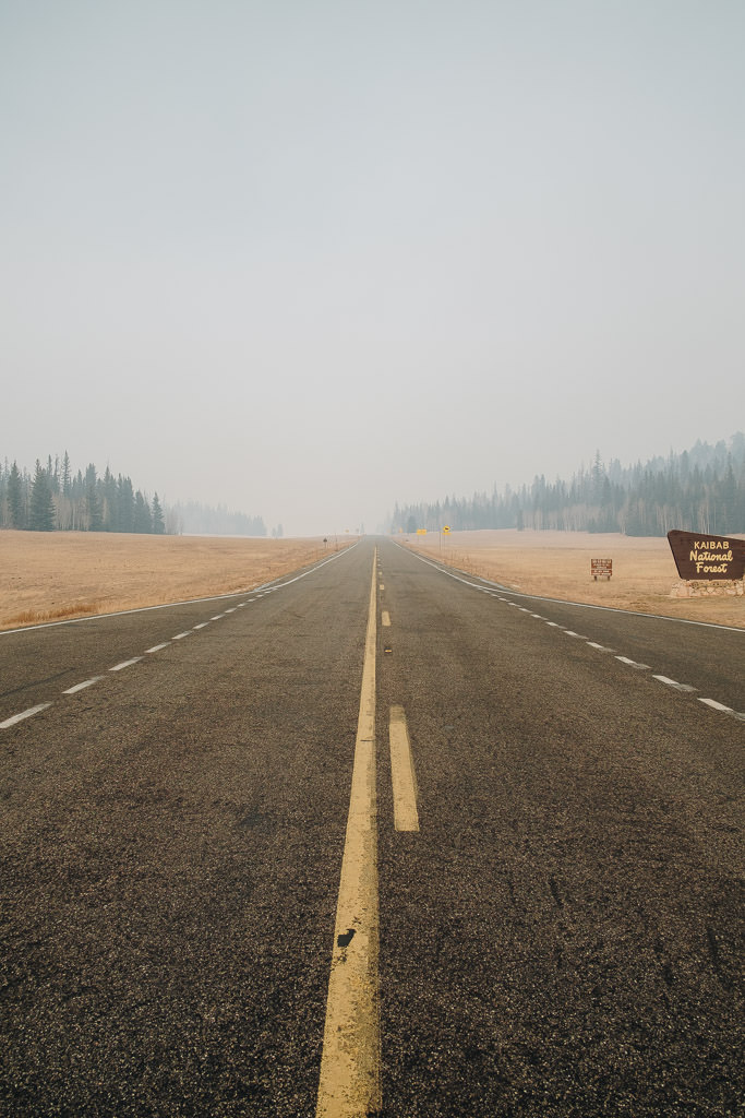 picture of a hazy road in Arizona