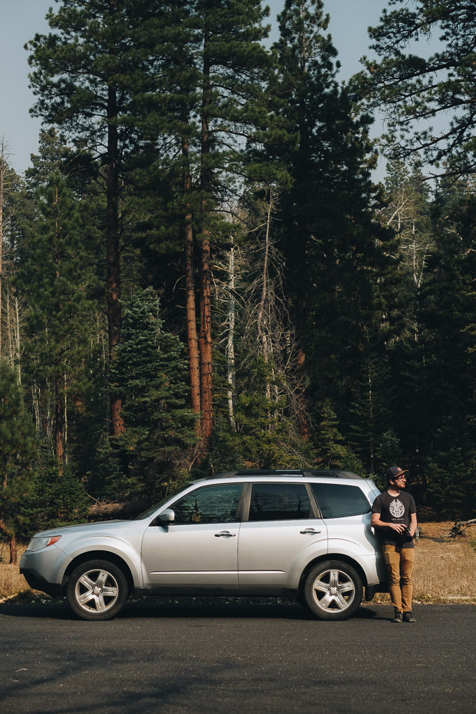 Subaru Forester parked in Grand Canyon National Park