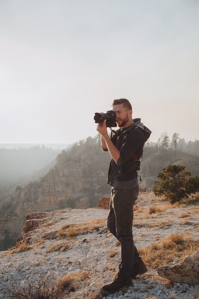 Photographer at Imperial Point Grand Canyon National Park
