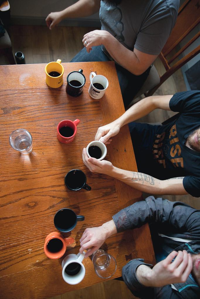 Taste testing coffee brew methods