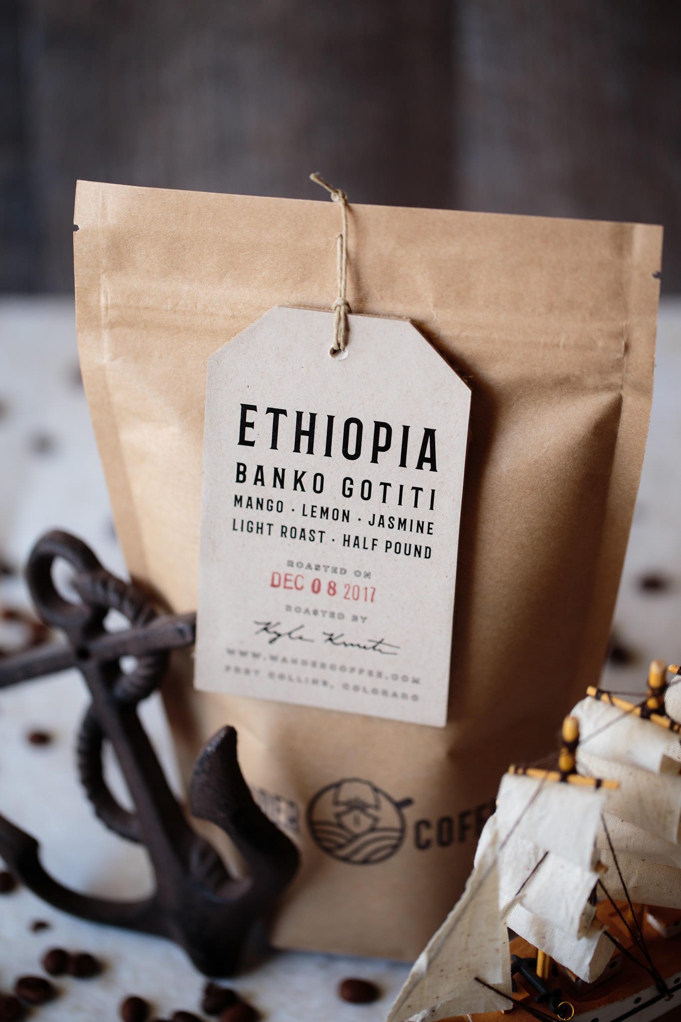 Wander Coffee Company single origin Ethiopia Washed process