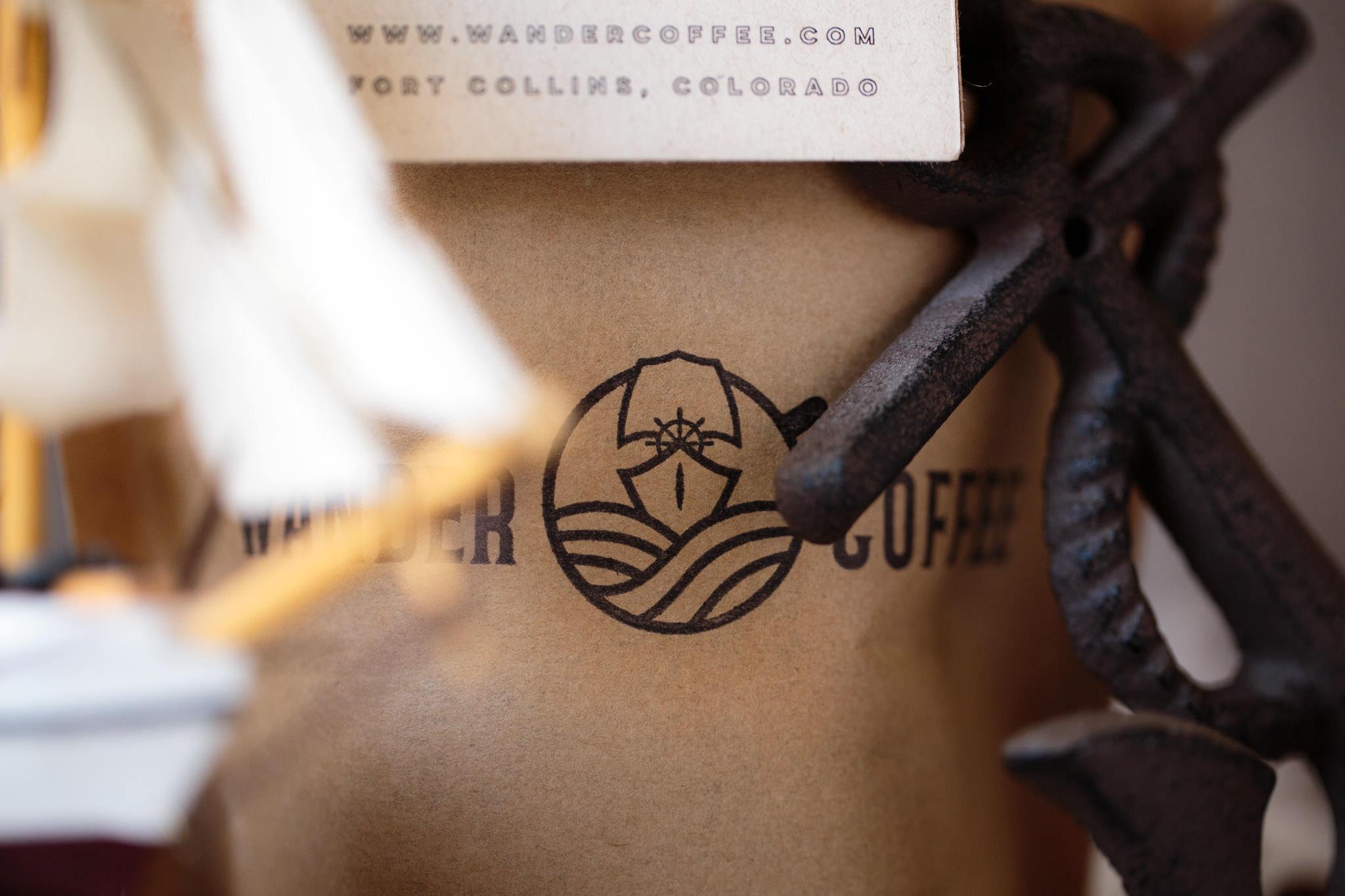 Wander coffee logo branding