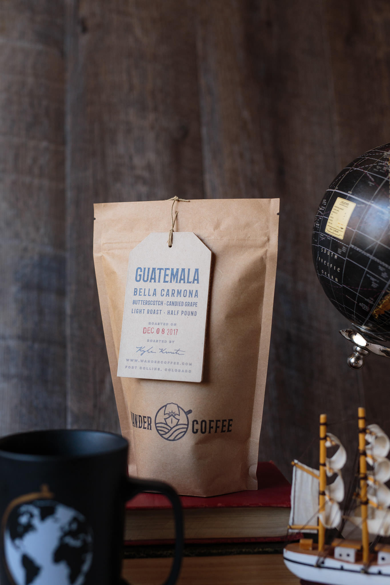 Guatemala Bella Carmona whole bean single origin honey processed coffee Wander