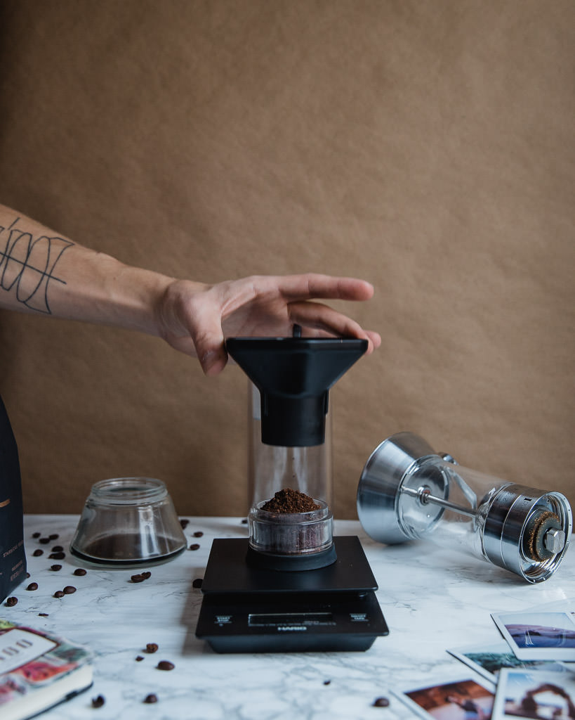 Aeropress funnel works well with American Press