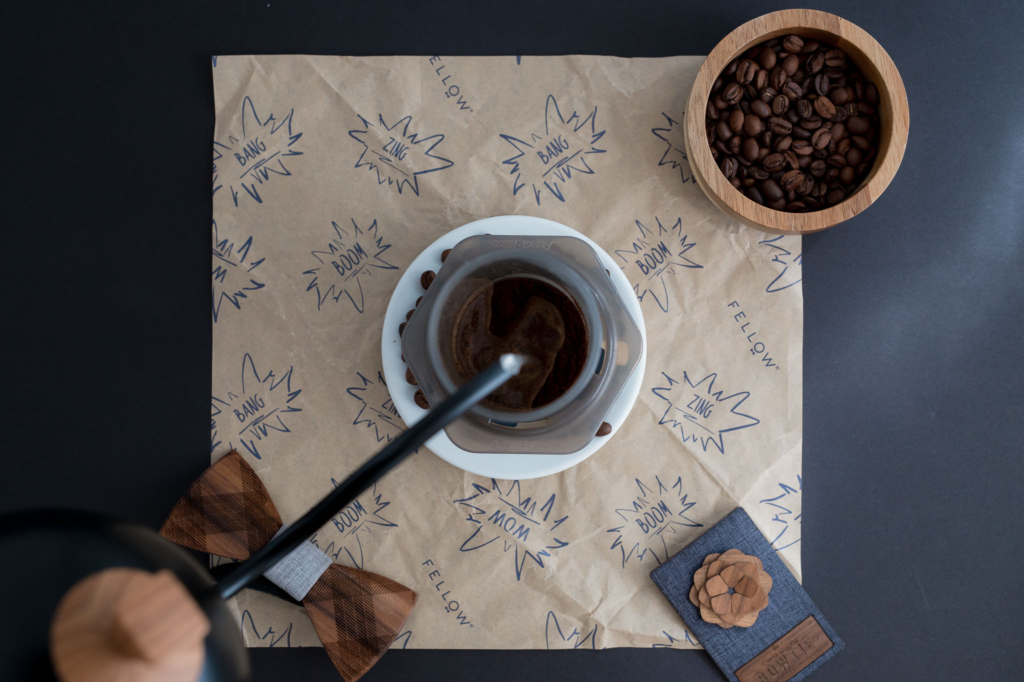 Brew full immersion coffee in an Aeropress without inverting