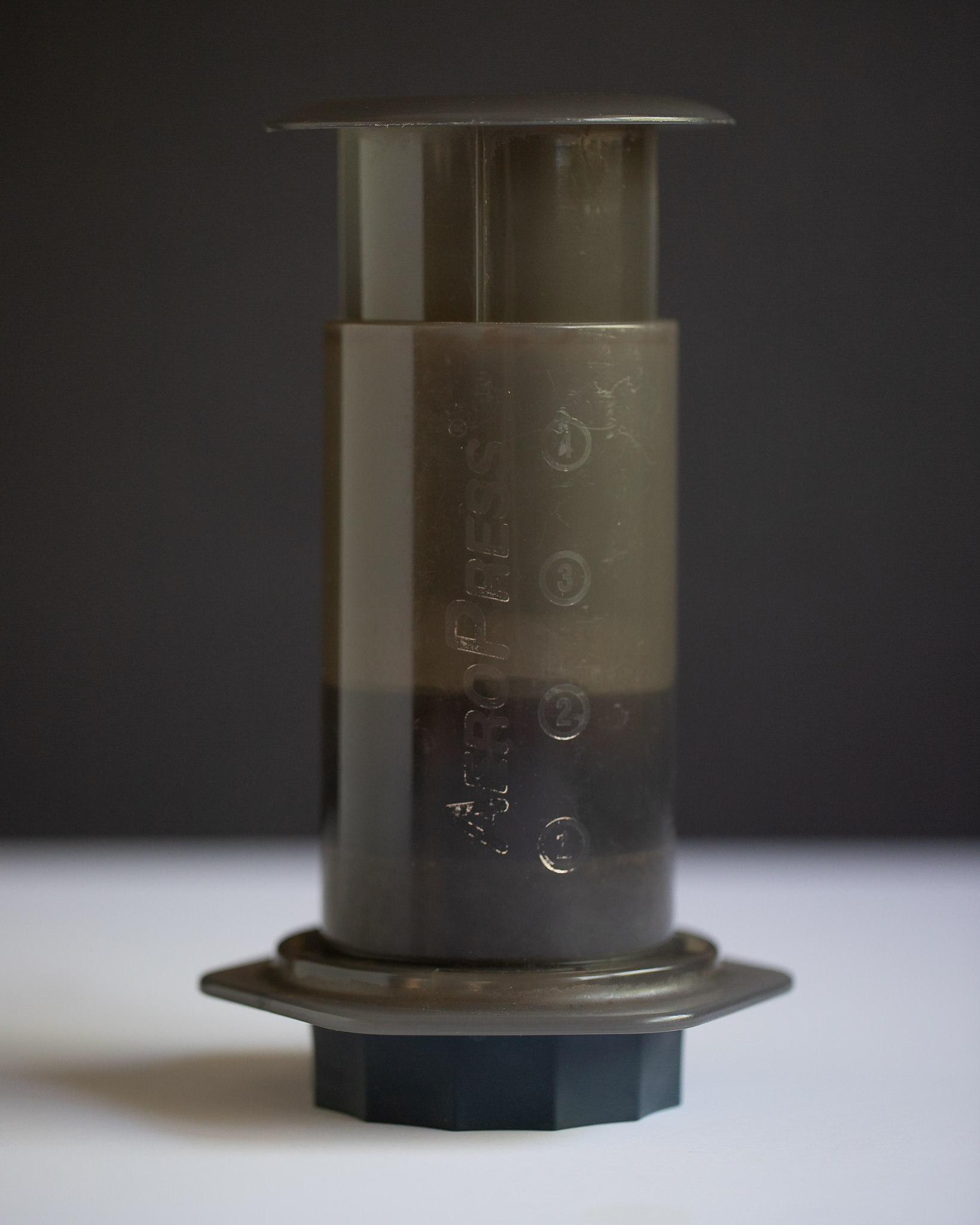 Liquid suspended above the off-brand Aeropress gasket