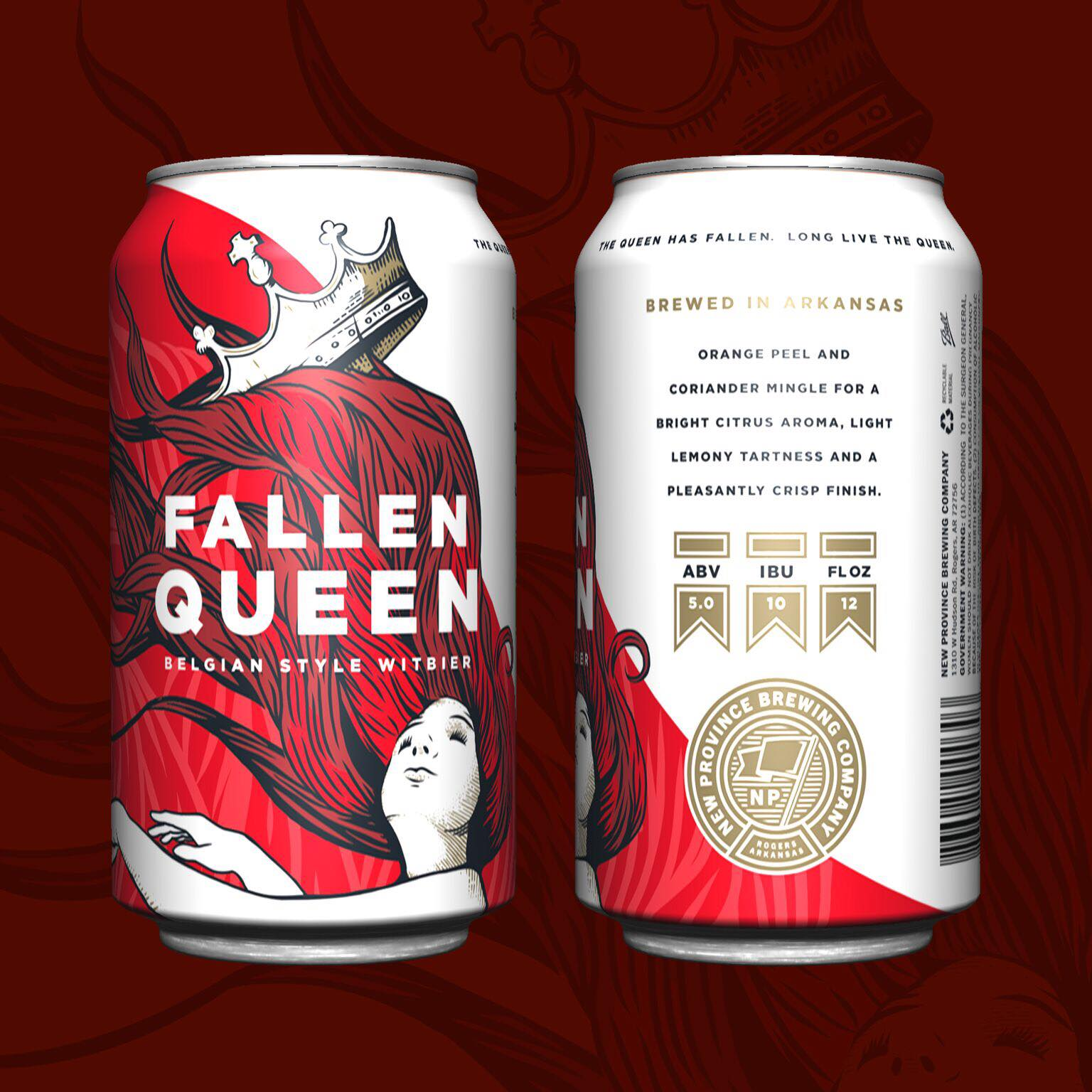 The cans for Fallen Queen remind me of the mythical land of Narnia. Photo courtesy New Province Brewing Co.