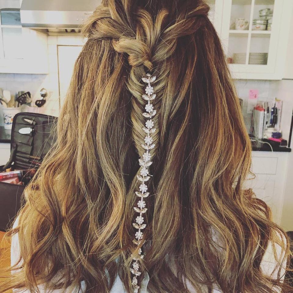 Summer weddings long braids