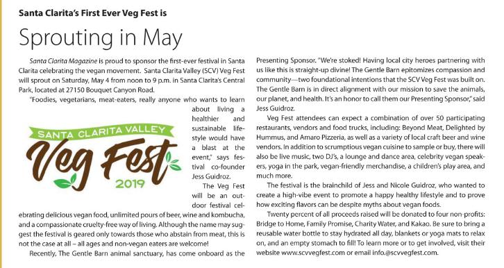 Veg Fest SCV Magazine article.PNG