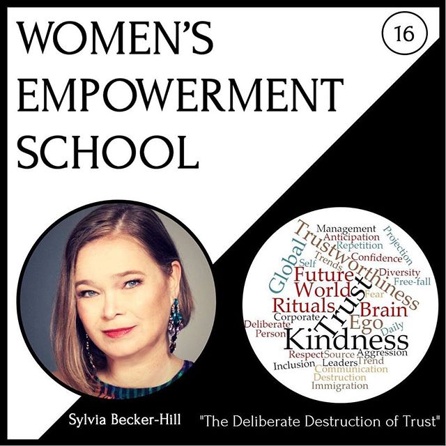 """""""Trust proof yourself"""" by listening to this week's 16th episode of the Women's Empowerment School podcast. In times of fake news and a global 🌍 decline of trust 🌎 into institutions and leaders we have to train our trust muscles 💪🏼 and make sure we trust ourselves and are trustworthy in the eyes 👀 of others.  Why and how? Listen 🙉 to the episode 16 """"The Deliberate Distruction of Trust"""" on ITunes, Google Play, Stitcher or my podcast page. 🎧  Direct link to this week's episode on ITunes in on the fourth position in my linktree 🌴 in my bio!  Can't wait to read what you took from this powerful episode!  Keep evolving! 🍁🐿🦋 Sylvia"""