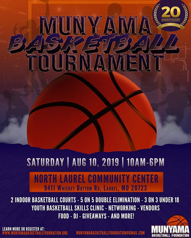 🗣58 DAYS! We will be honoring fallen ballers, highlighting the day ones, and introducing a new generation to the Munyama Fraternity. GET REGISTERED NOW!! Earlybird sale ends 6/21/19. Transportation will be provided for Baltimore City Youth Participants (upon request). SLOTS ARE LIMITED! munyamabasketballfoundation.org LINK IN BIO  #munyamabasketball #munyamabasketballtournament  #basketballtournament #ballislife #youthbasketballclinic #basketballlovers #basketballneverstops #basketballfan #youthbasketball #baltimorebasketball #kenyabasketball