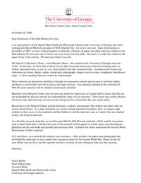 Hargrett Letter