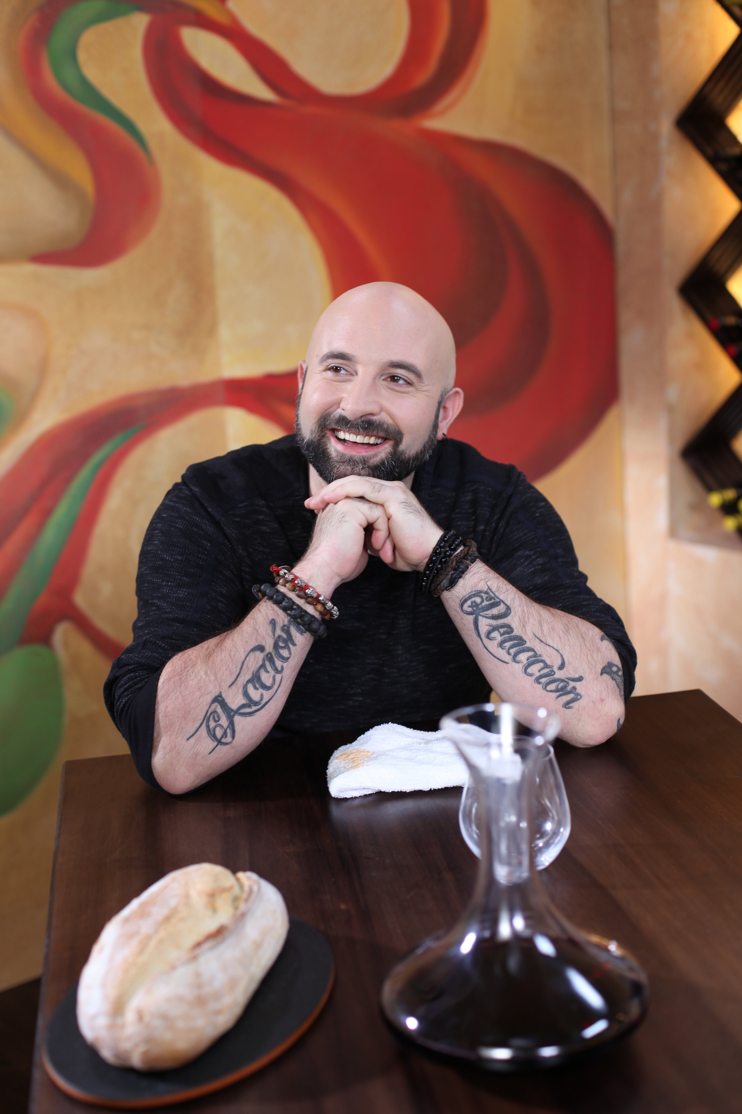 Chef Tigretón on the set of Latin Kitchen - Broadcasted on Gusto.tv, Bell Media