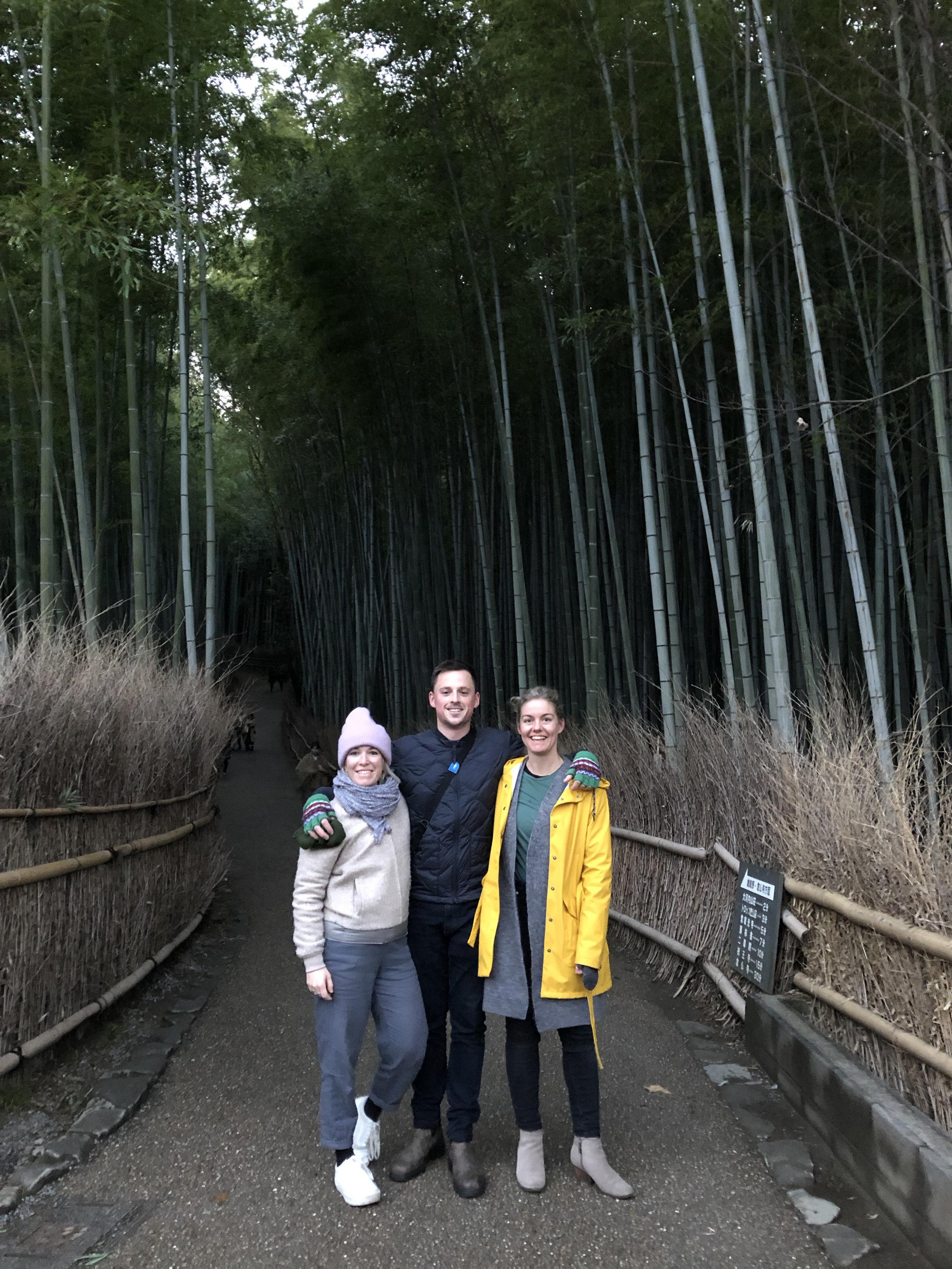 Arashiyama bamboo forest with friends, Kyoto