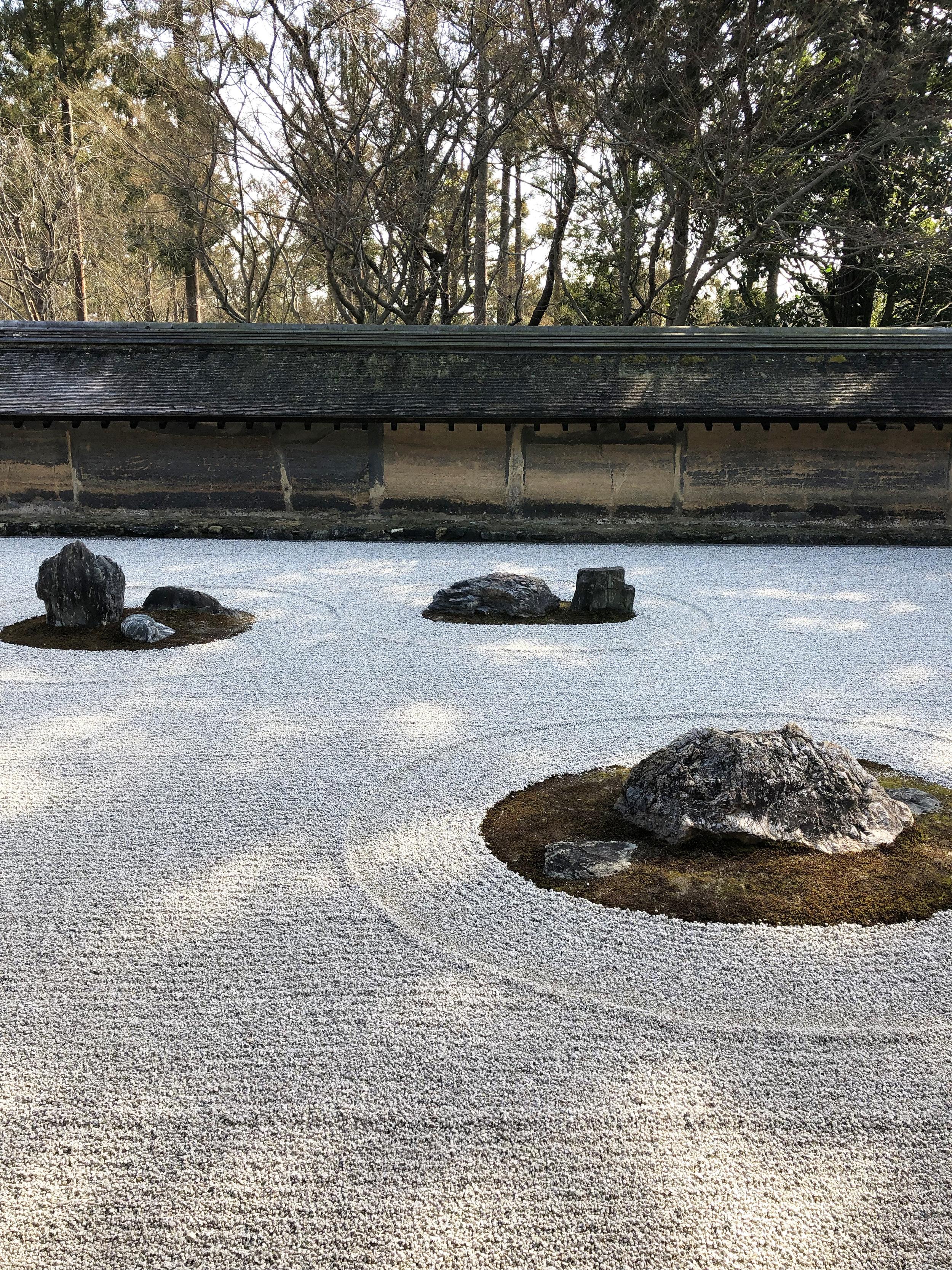 Ryoan-ji Temple Zen rock garden, Kyoto