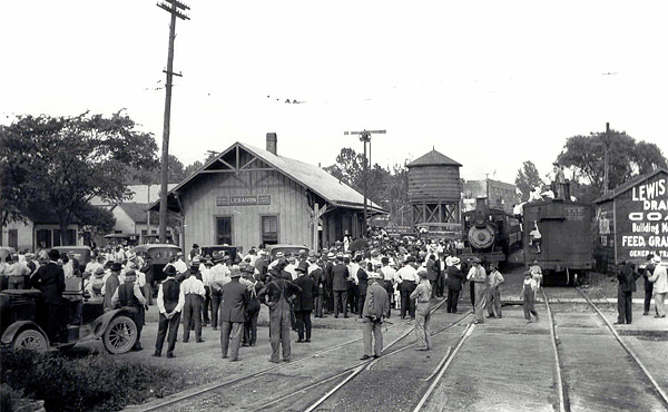 Lebanon Station as viewed from across Broadway St prior to WWI