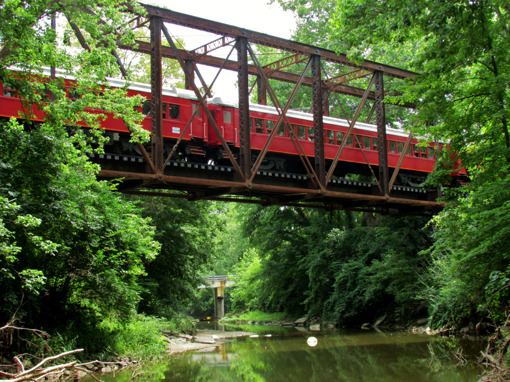 Our train crossing the Turtle Creek. All trains departing from Lebanon, excluding Day Out with Thomas, will cross this bridge.