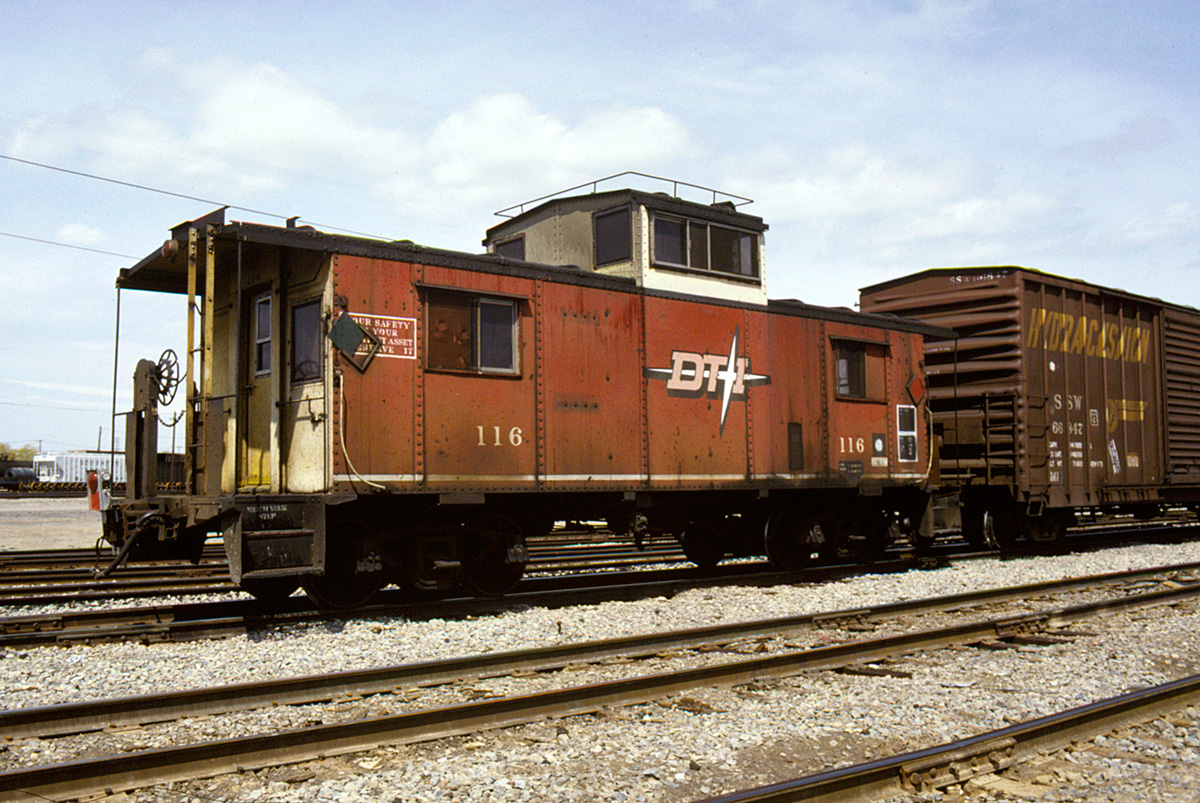 DT&I 116 in regular service on a freight train