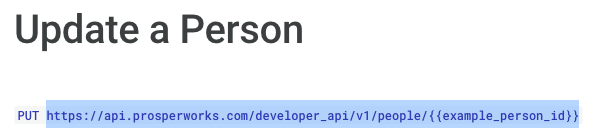 The URL you need from the Copper API documentation is highlighted in this image.