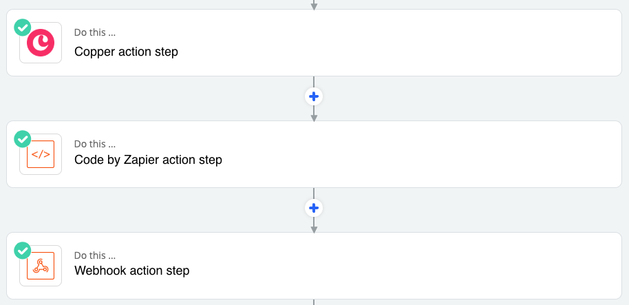 This the order of action steps that you want in your zap.