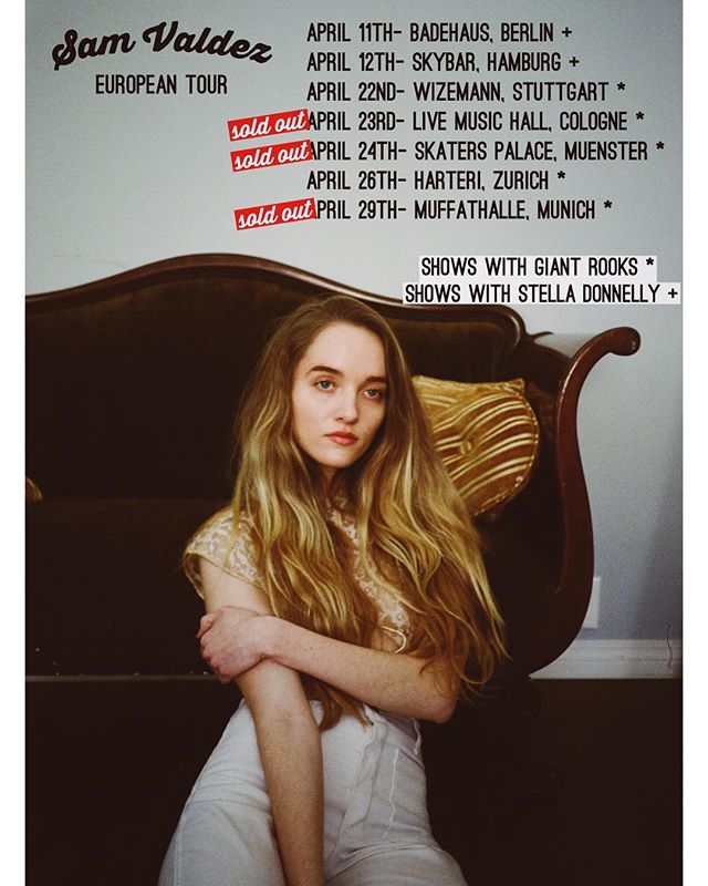 very excited to be heading to Europe next month supporting the lovely @stelladonnelly and @giantrooksmusic on tour. will be announcing more shows in London soon as well. see you there 🖤