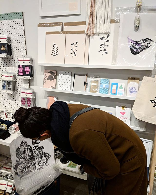 A massive thank you to @shopbrika and @natfest for believing in me and supporting me and my dream. I'm overjoyed to have this opportunity to share my work at Brika among other amazing creators.  Shoutout to @onemississippi for being a true sweetheart and gem.  Go by and check them out 🖤✨ #shopbrika #torontoartist #archivalprint