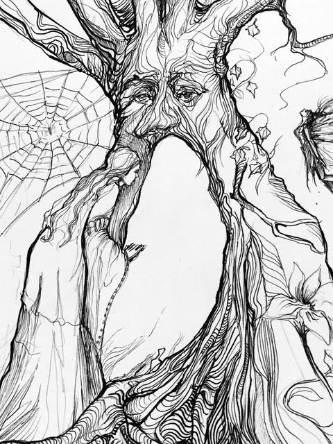 Pencil Sketch of the Fool Card