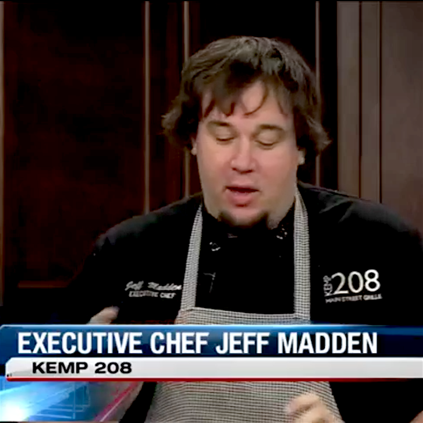 WMBD This Morning - Kemp 208 Executive Chef Jeff Madden makes a Caramelized Apple & Cinnamon Cake with Eugene Daniel live on WMBD This Morning