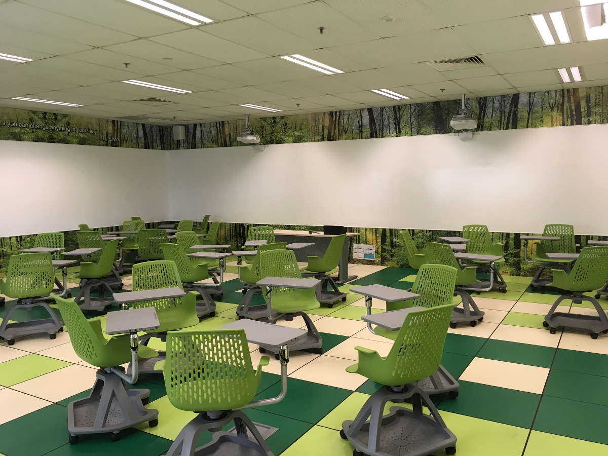 ITE West - IdeaPaint on 360 classroom environment