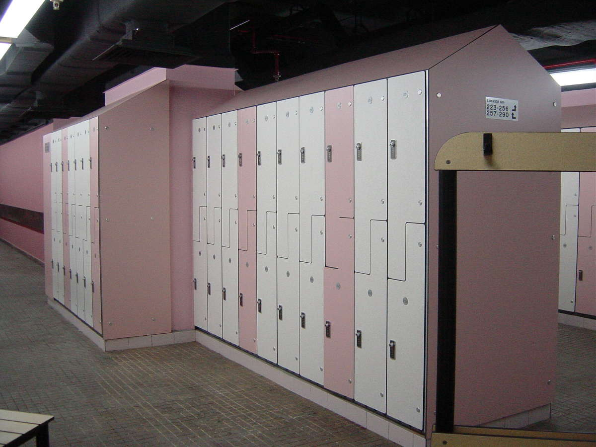 Mandarin Oriental - BOH Modular staff lockers, easy to dismantle and re-organise