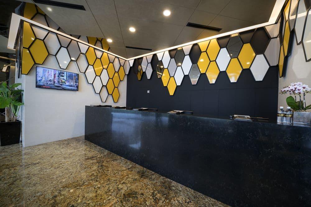Copy of Hotel Mi- Armourcolour Perlata finish on ceiling