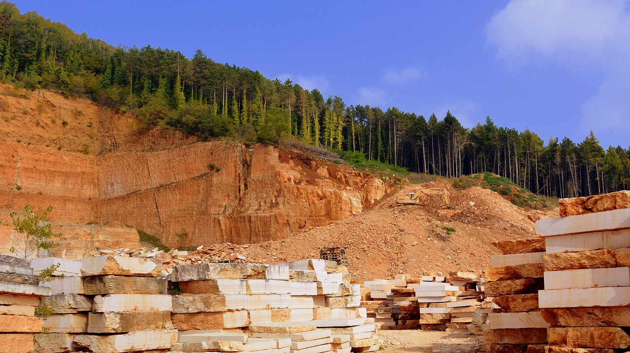 Traditional stone quarries, depreciating whats left of our natural sites.
