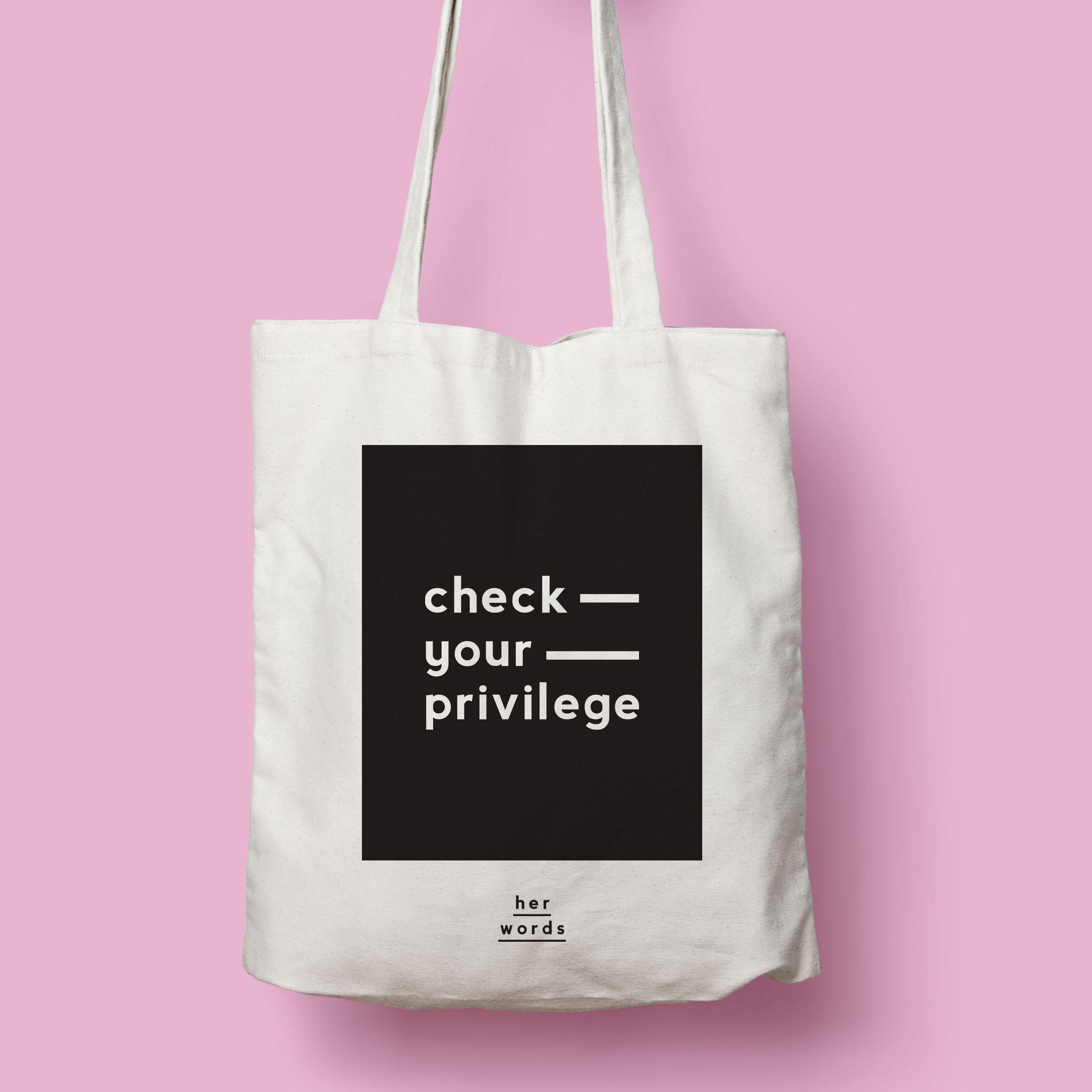 Check your privilege Tote BAG -