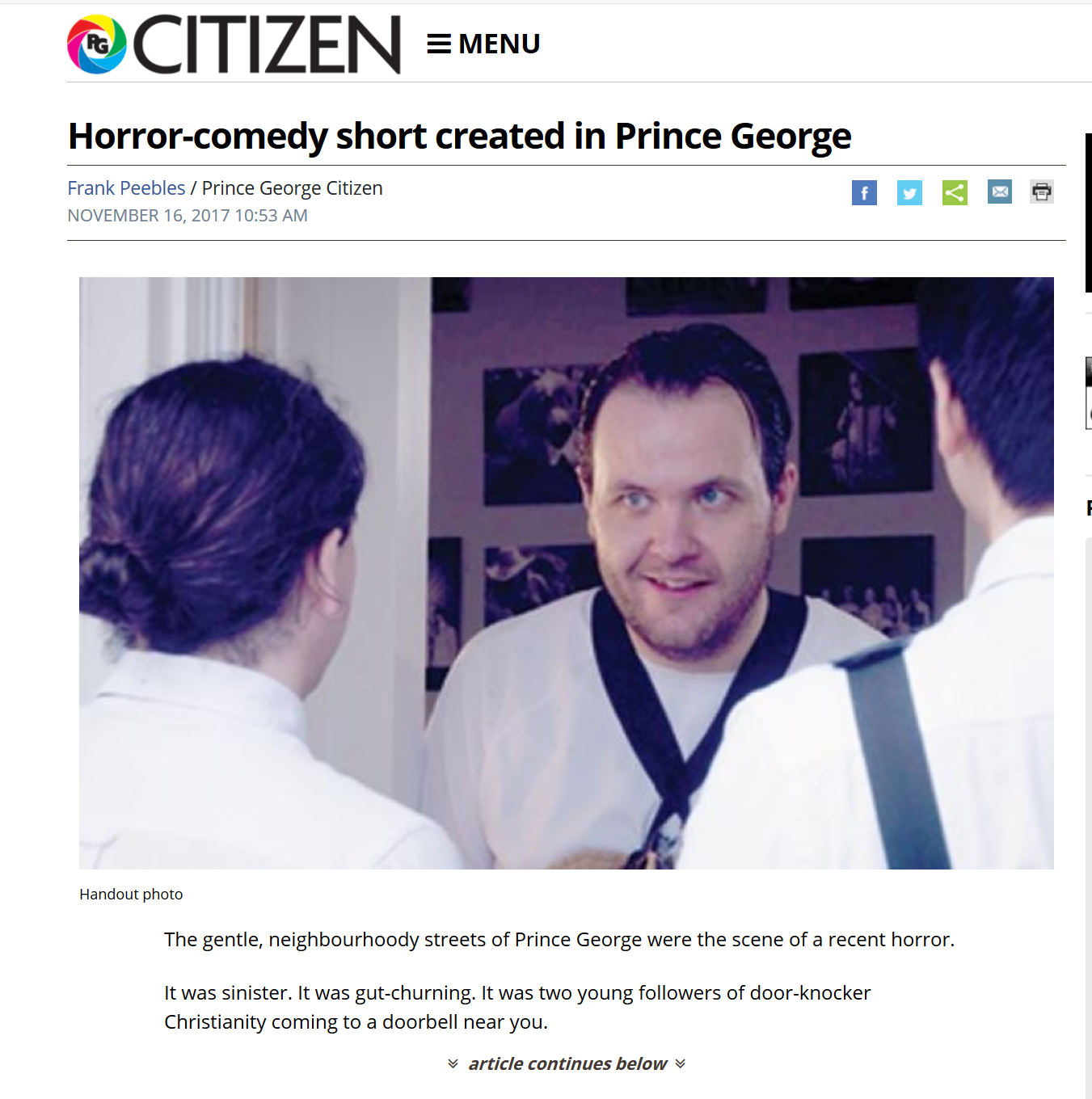 Great Article by Frank Peebles from the Prince George Citizen CLICK HERE TO READ -