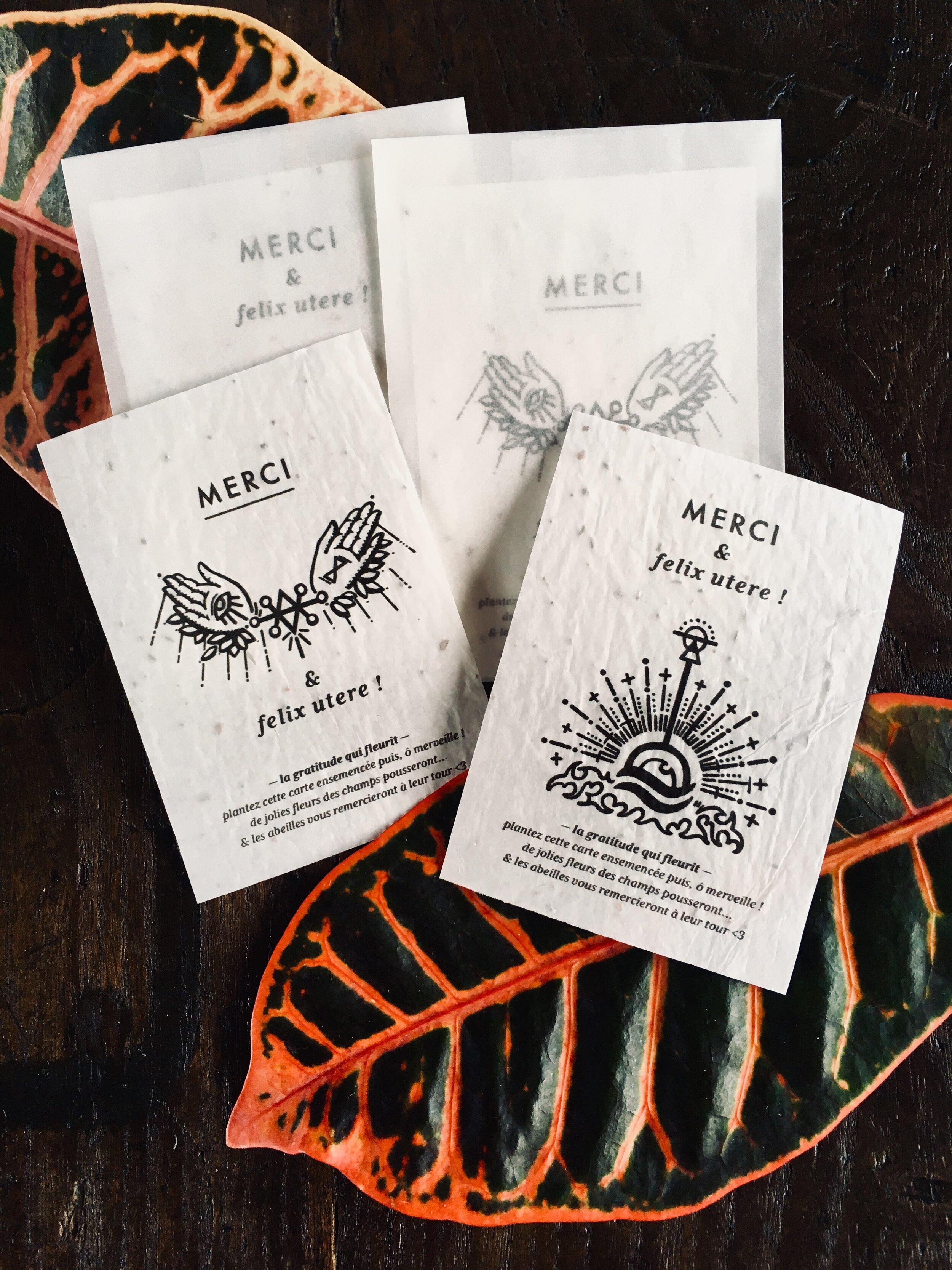 Carte de remerciement Mocoia qui fleurit, un régal pour les abeilles!