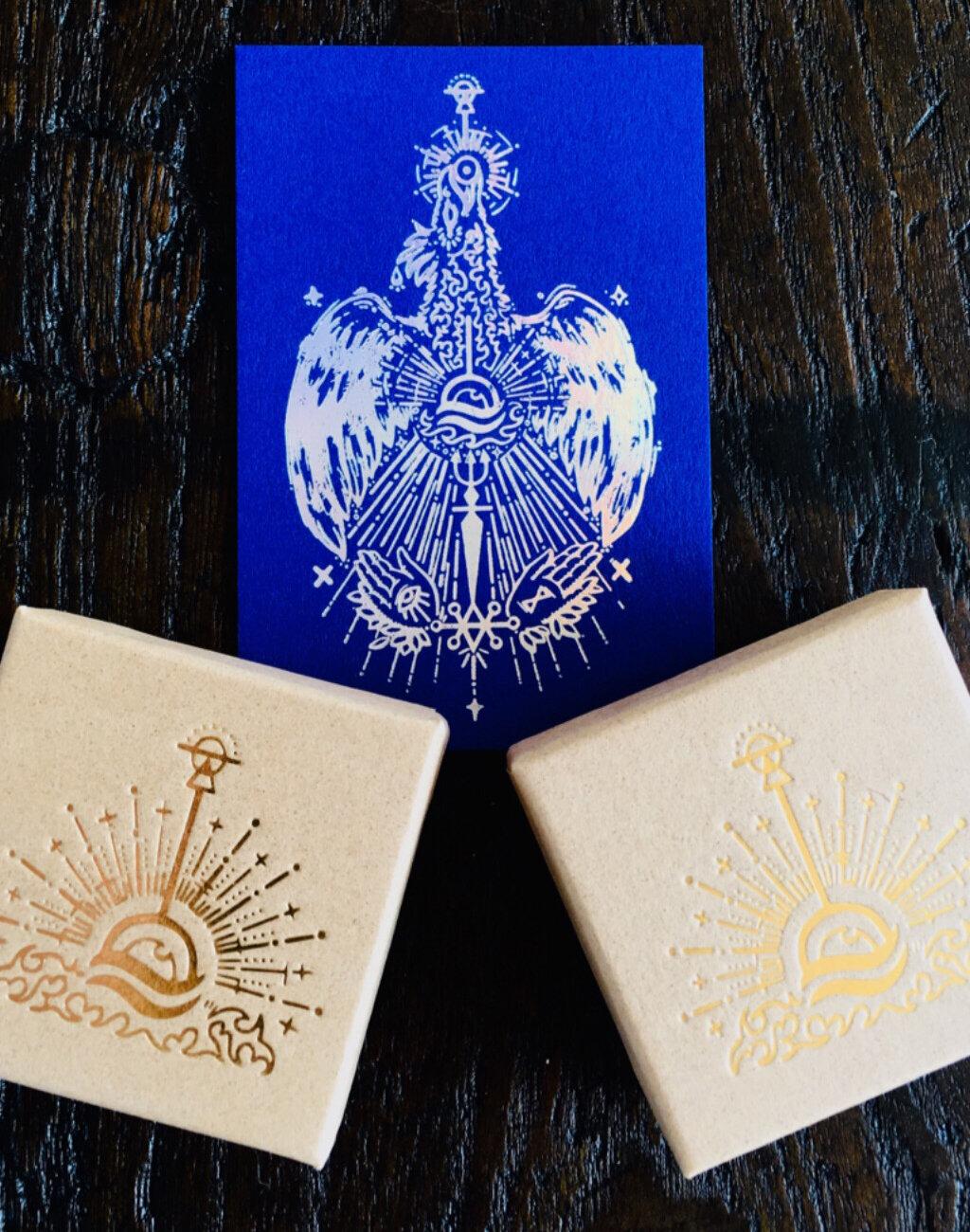 Carte talisman Mocoia avec effet holographique