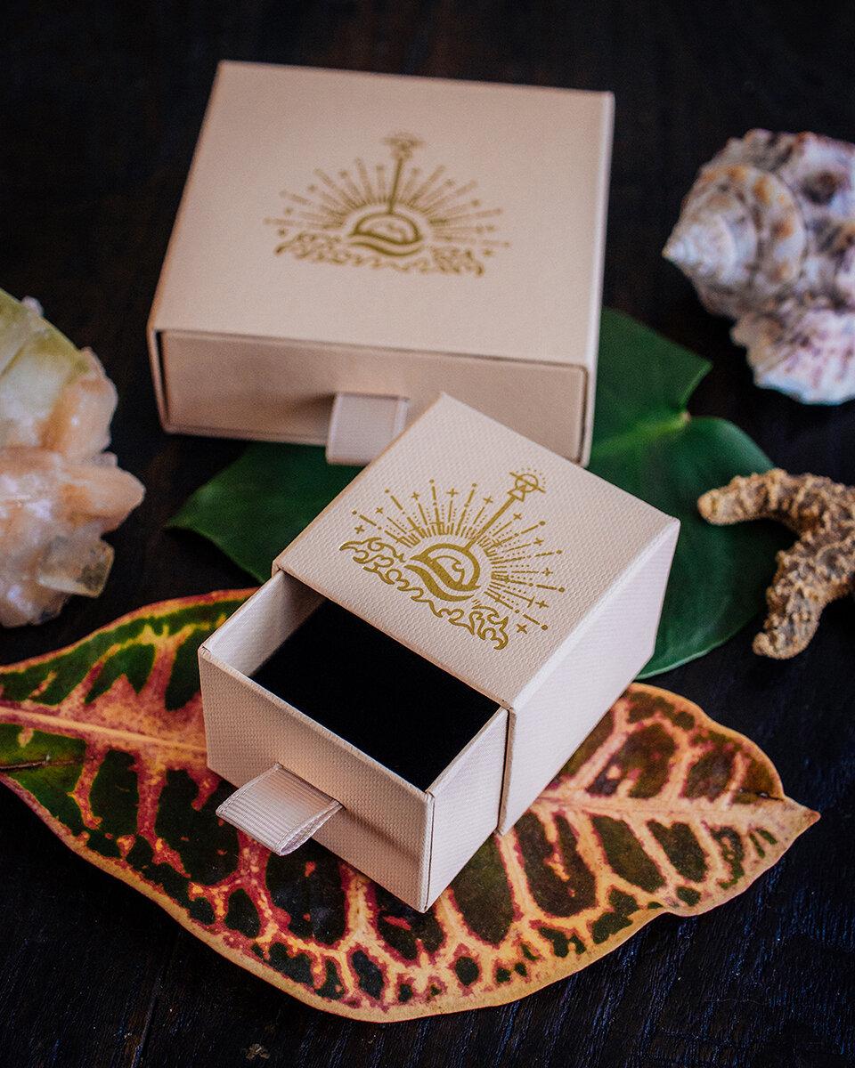 Écrin matchbox en carton recyclé pour les bijoux