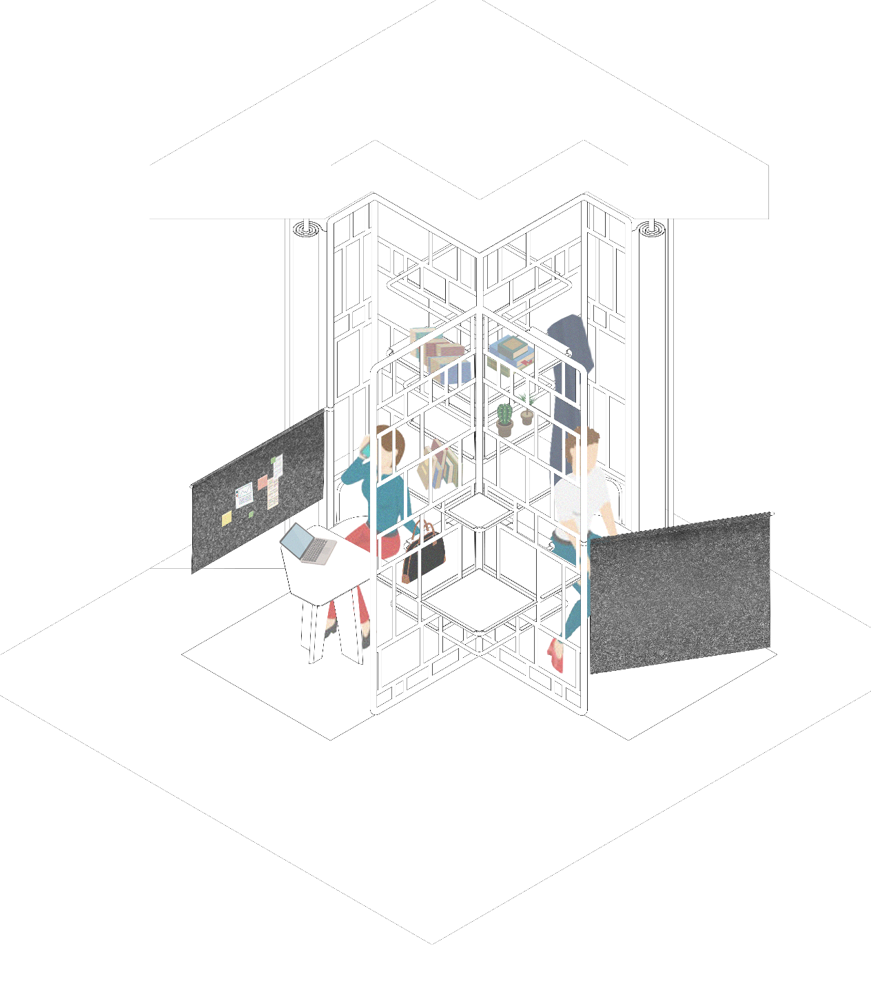 Office project - In recent years, the press is the written medium with the strongest evolution, we hypothesize a new organization of work to apply the best to the latter.