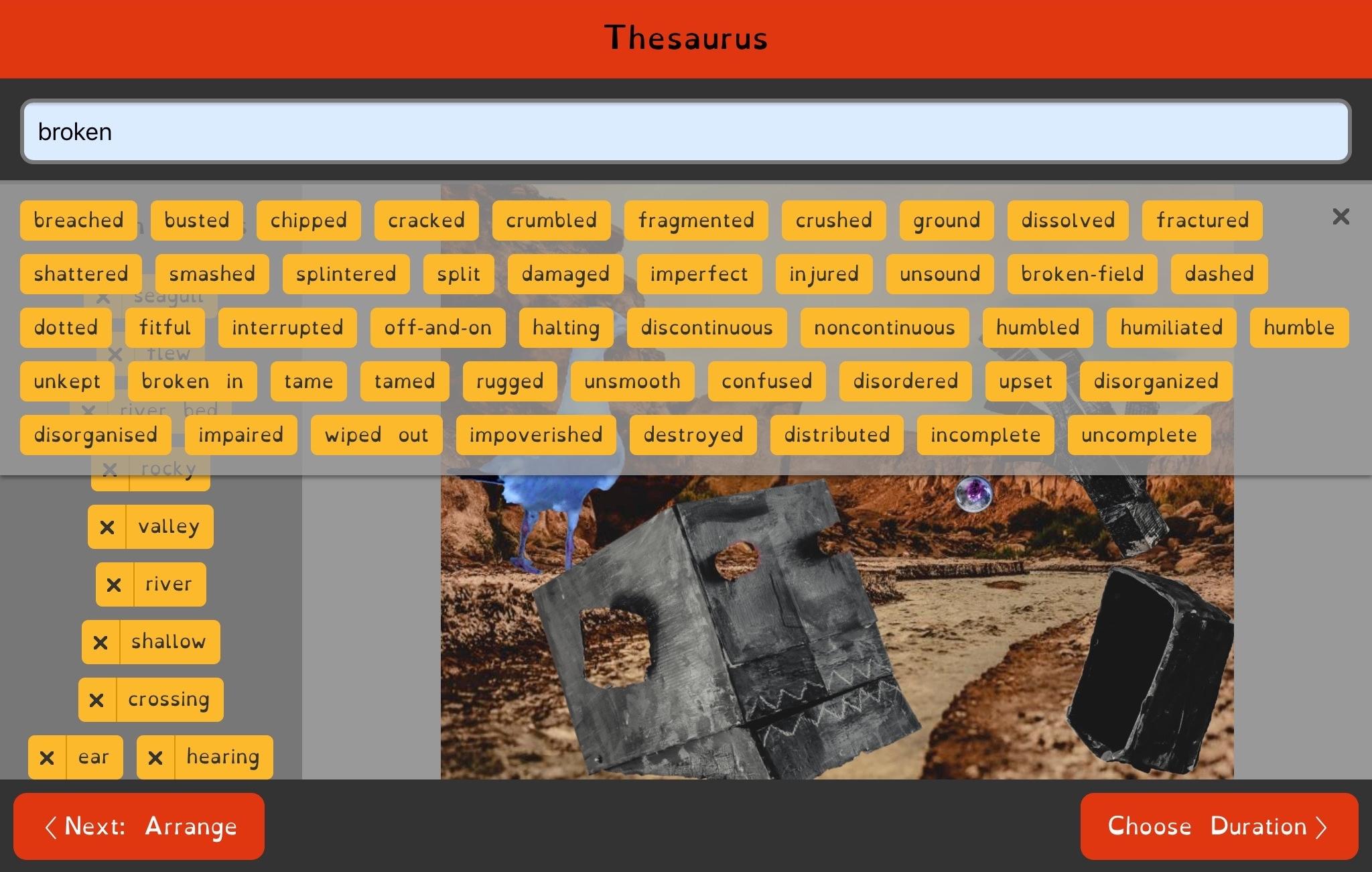 Scribeasy thesaurus